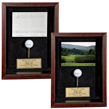 Mahogany Frame with Scorecard/Photo