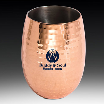 Moscow Mule Double Wall Tumbler Hammered Finish (Copper)